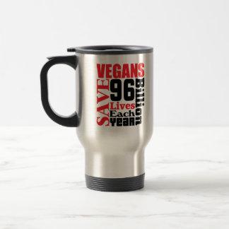 Vegans Save Lives Vegan Travel Mug/Cup Travel Mug
