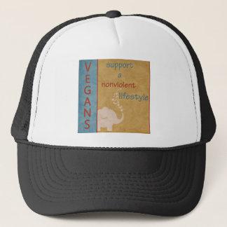 Vegans Support a Nonviolent Lifestyle Merchandise Trucker Hat