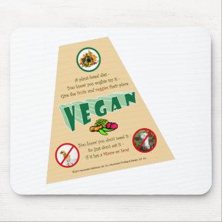 VeganT-angle-trans Mouse Pad