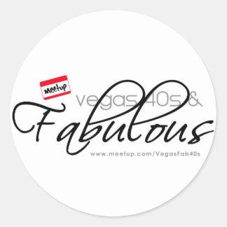 Vegas 40s & Fabulous Classic Round Sticker