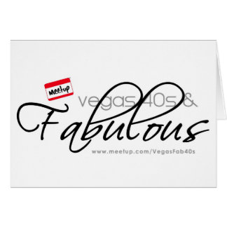 Vegas 40s & Fabulous Greeting Card