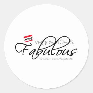 Vegas 40s & Fabulous Round Stickers
