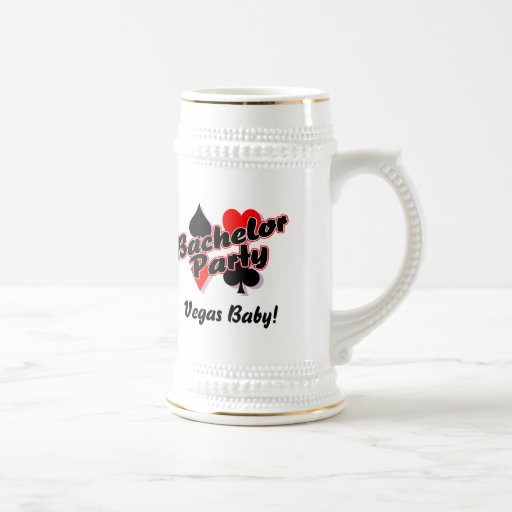 Vegas Baby Bachelor Party Beer Stein