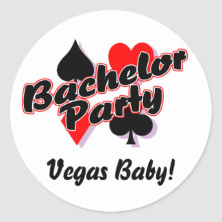 Vegas Baby Bachelor Party Classic Round Sticker