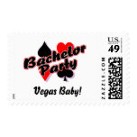 Vegas Baby Bachelor Party Postage Stamp