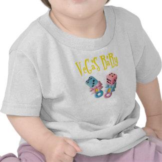 VeGaS BaBy Boy / Girl Pink and Blue Dice Rattles! Tee Shirt