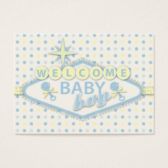 Vegas Baby Boy Reminder Notecard Y Business Card