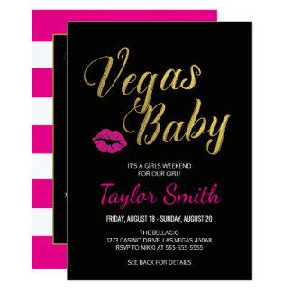 Vegas Baby Itinerary Invitation