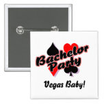Vegas Bachelor Party 2 Inch Square Button