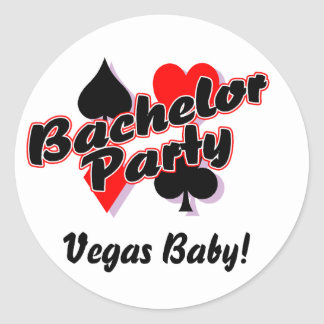 Vegas Bachelor Party Classic Round Sticker