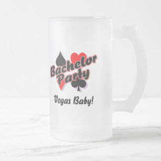 Vegas Bachelor Party Frosted Glass Beer Mug