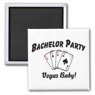 Vegas Bachelor Party 2 Inch Square Magnet