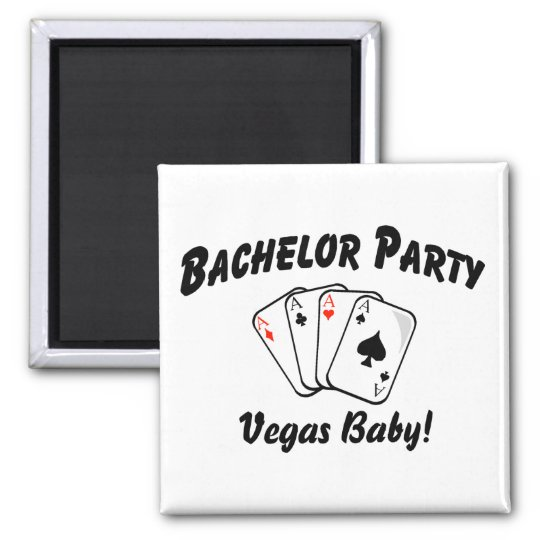 Vegas Bachelor Party Magnet