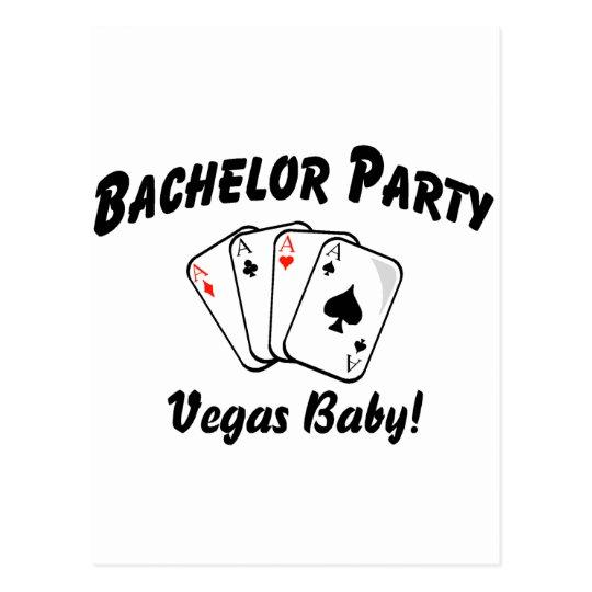 Vegas Bachelor Party Postcard