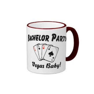 Vegas Bachelor Party Ringer Coffee Mug