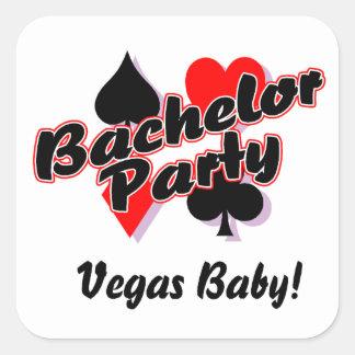 Vegas Bachelor Party Square Sticker