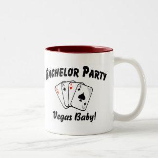 Vegas Bachelor Party Two-Tone Coffee Mug