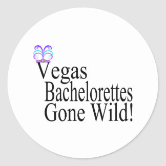 Vegas Bachelorettes Classic Round Sticker