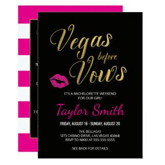 Vegas before Vows Bachelorette Itinerary Invite