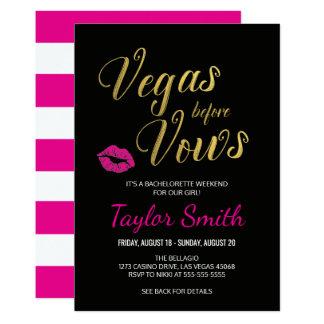 Vegas before Vows Bachelorette Party Invitation
