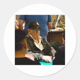 Vegas Bob Pegatina Redonda