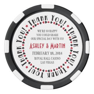 Vegas Casino Card Suits Wedding Thank You Favor Poker Chips
