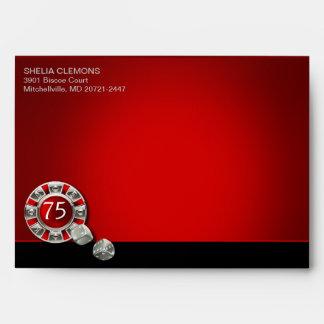 Vegas Casino Chip | red silver black Envelope
