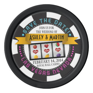 Vegas Casino Destination Wedding Save the Date Poker Chips Set