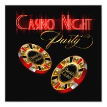 Vegas Casino Night ASK ME 2 PUT YOUR NAME ON CHIPS Card