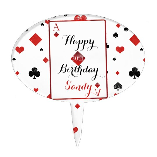 Vegas Casino Style Birthday Cake Topper Zazzle Com