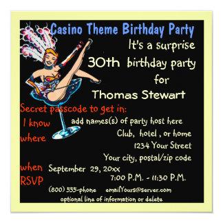Vegas Casino Style Birthday Party Invitation