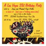 Vegas Casino Theme Twenty-first Birthday Party Announcement