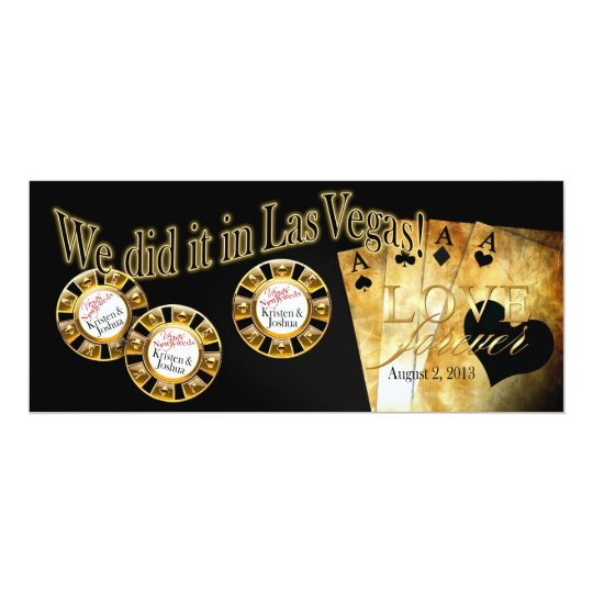 Vegas Deluxe Reception (contact me 2 personalize) Card