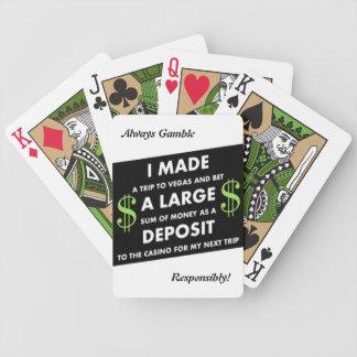Vegas Deposits / Responsibly Bicycle Playing Cards