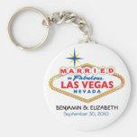 Vegas Destination Wedding Commemorative Keychain