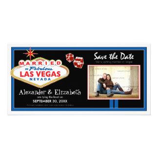 Vegas Destination Wedding Save the Date Photocard Card