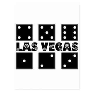Vegas Dice BullsEYE Target Postcard