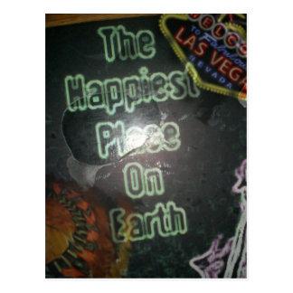 Vegas - el lugar más feliz en la tierra tarjeta postal