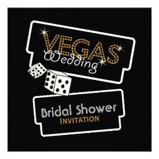 Vegas enciende la invitación nupcial negra de la d