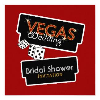 Vegas enciende la invitación nupcial roja de la du