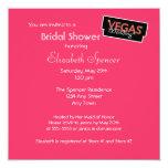 Vegas enciende la invitación nupcial rosada de la invitación 13,3 cm x 13,3cm