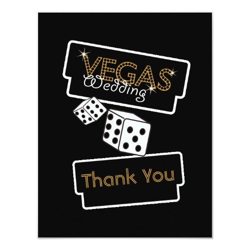 Vegas enciende negro le agradece cardar invitación 10,8 x 13,9 cm
