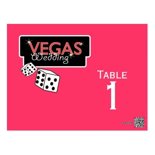 Vegas enciende tarjetas rosadas del número de la t postales