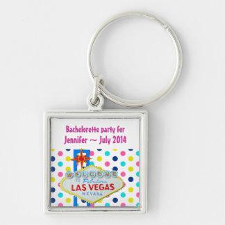 Vegas Final Fling Bachelorette Polka Dots Keychain
