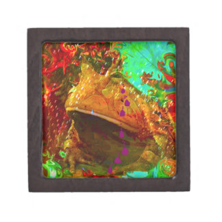 Vegas Frog Cries at Disco by Deprise Jewelry Box