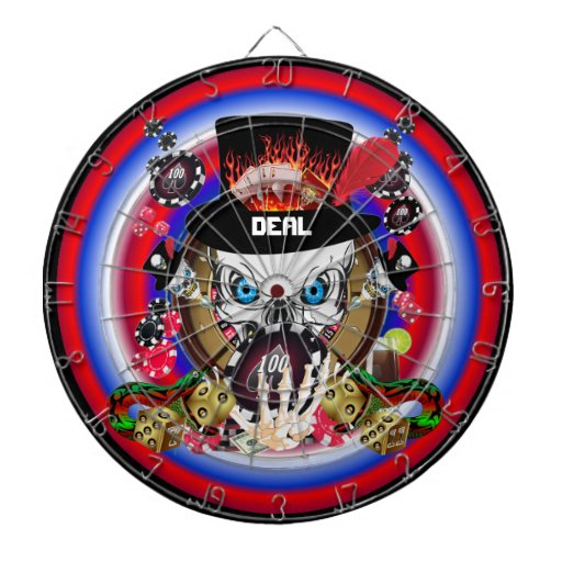 Vegas Gambler All styles View Artist Comments Dartboard With Darts