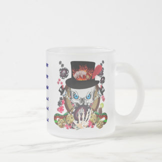 Vegas Gambler All styles View Artist Comments Frosted Glass Coffee Mug