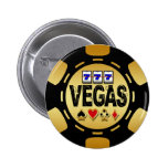 VEGAS GOLD AND BLACK POKER CHIP BUTTONS