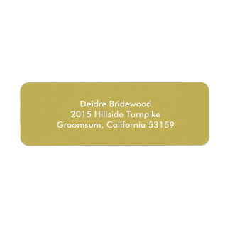 Vegas Gold Contemporary Solid Color Label