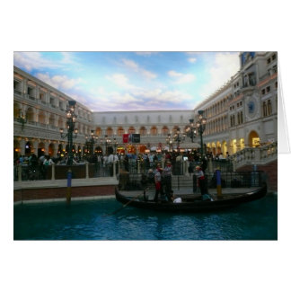 vegas gondola greeting card